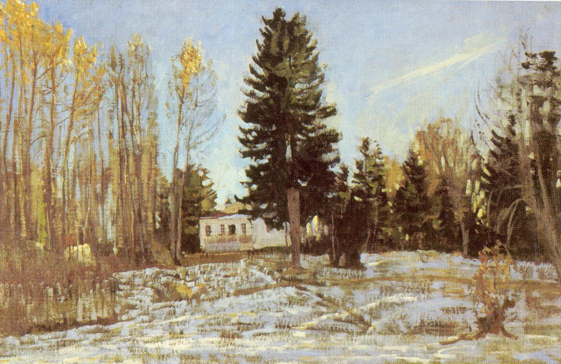 Старая усадьба зимой, Жуковский Станислав Юлианович
