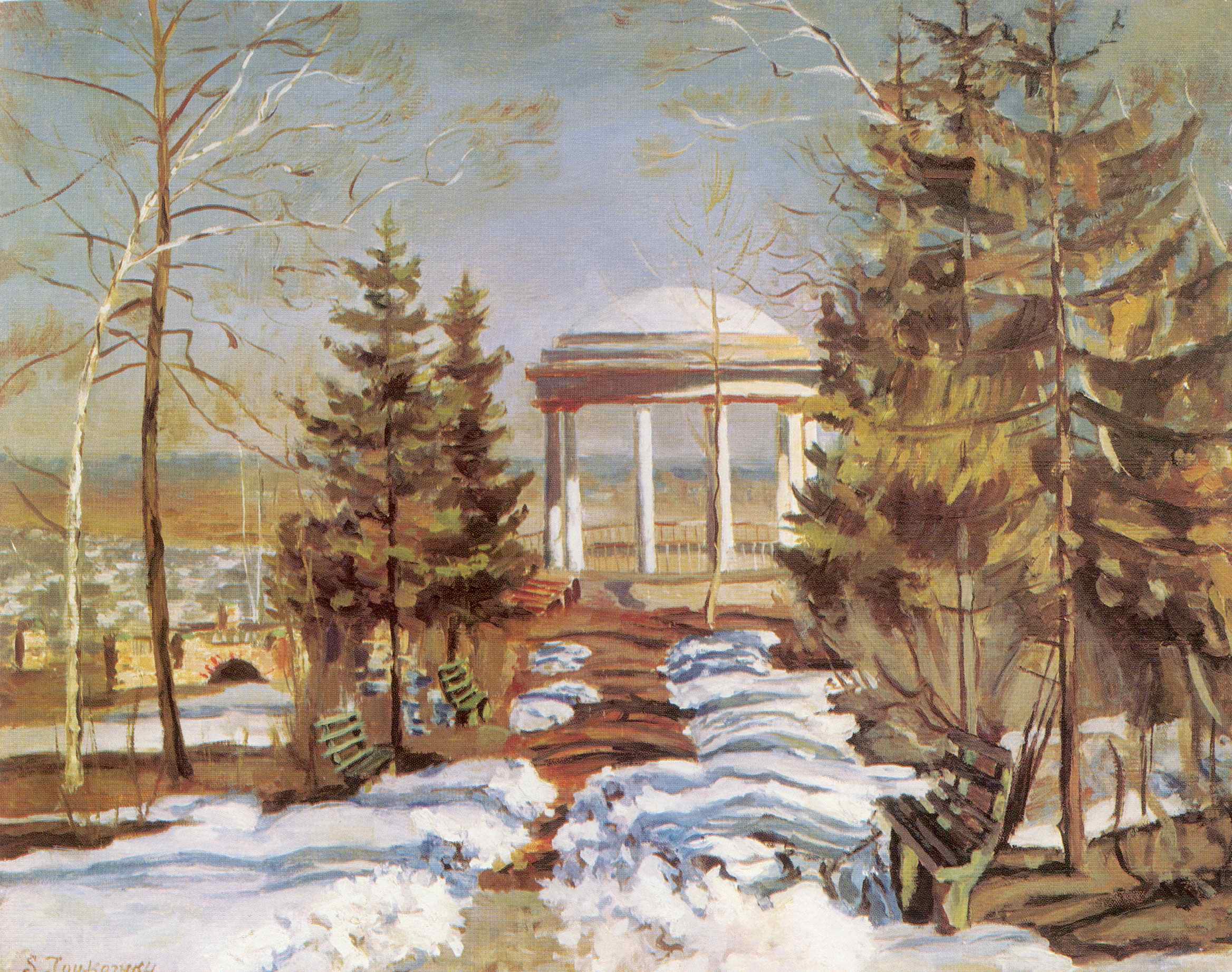 Ранняя весна (Беседка в парке), Жуковский Станислав Юлианович