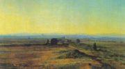 Аппиева дорога при закате солнца