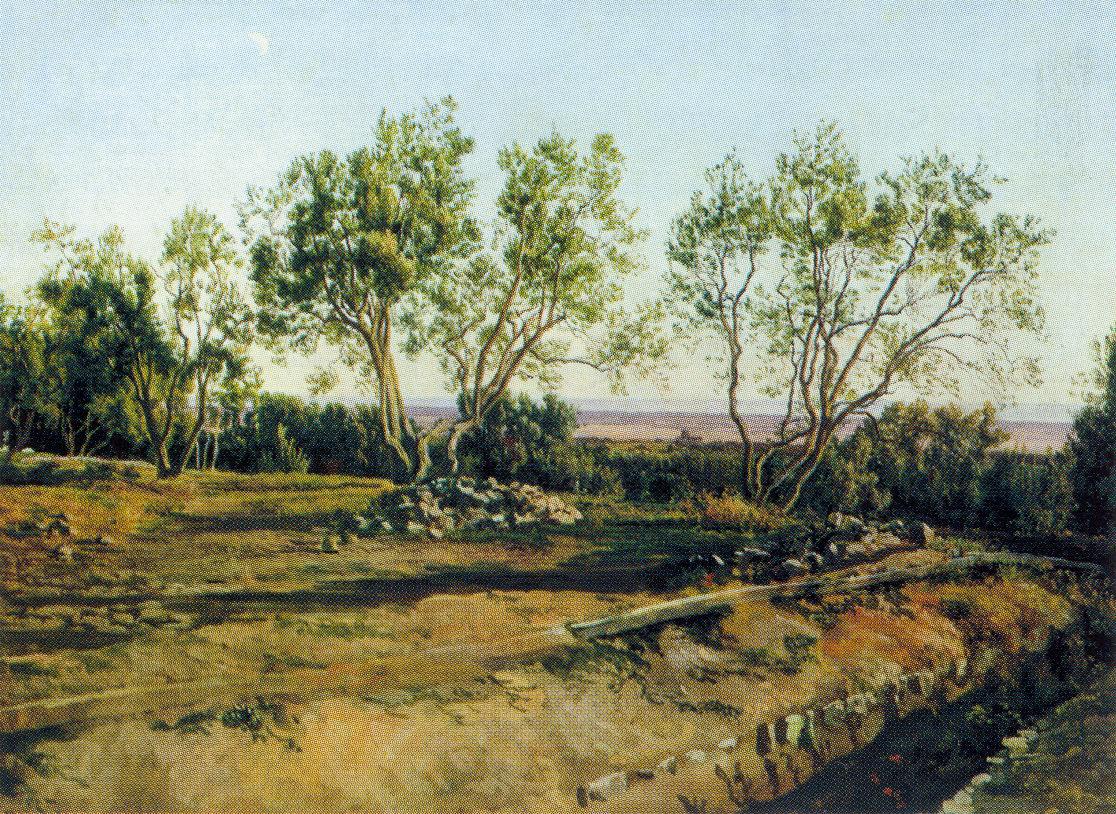 Оливы у кладбища в Альбано. Молодой месяц, Иванов Александр Андреевич