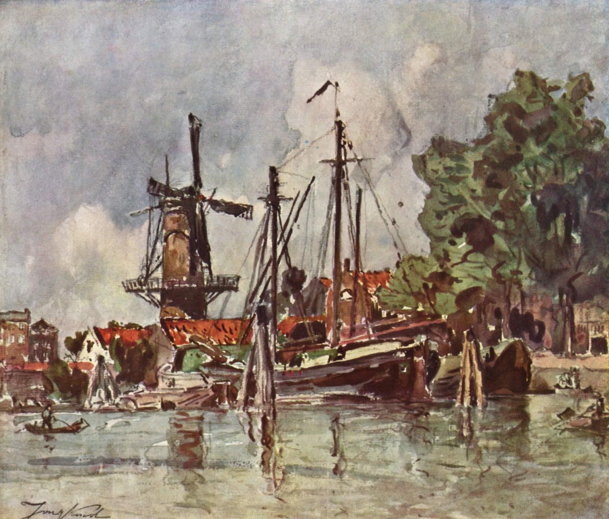 Деревня Доверси в Голландии, Йонгкинд Йохан Бартолд