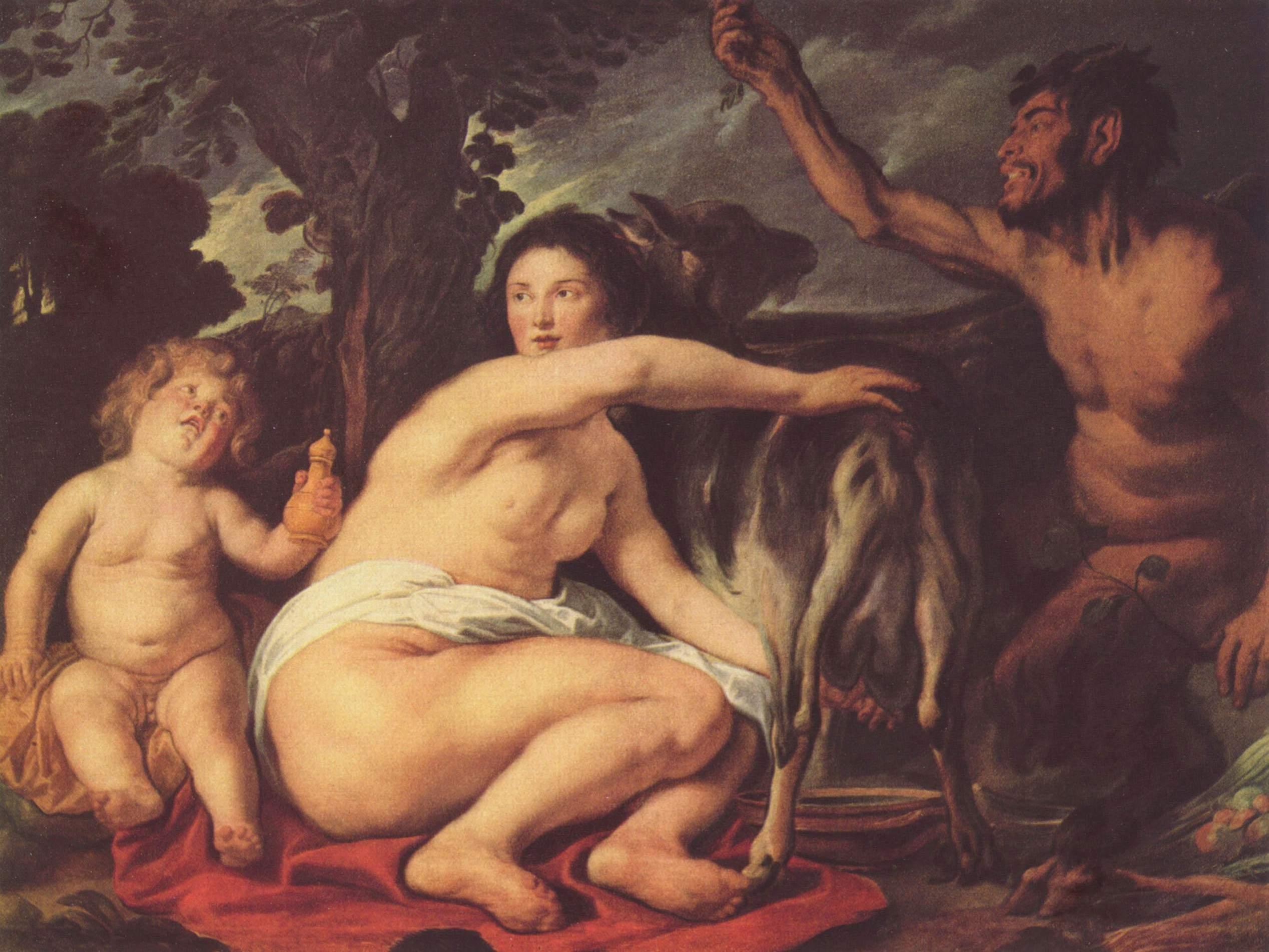 Детство Зевса (Зевс питается молоком козы Амалфеи), Йорданс Якоб