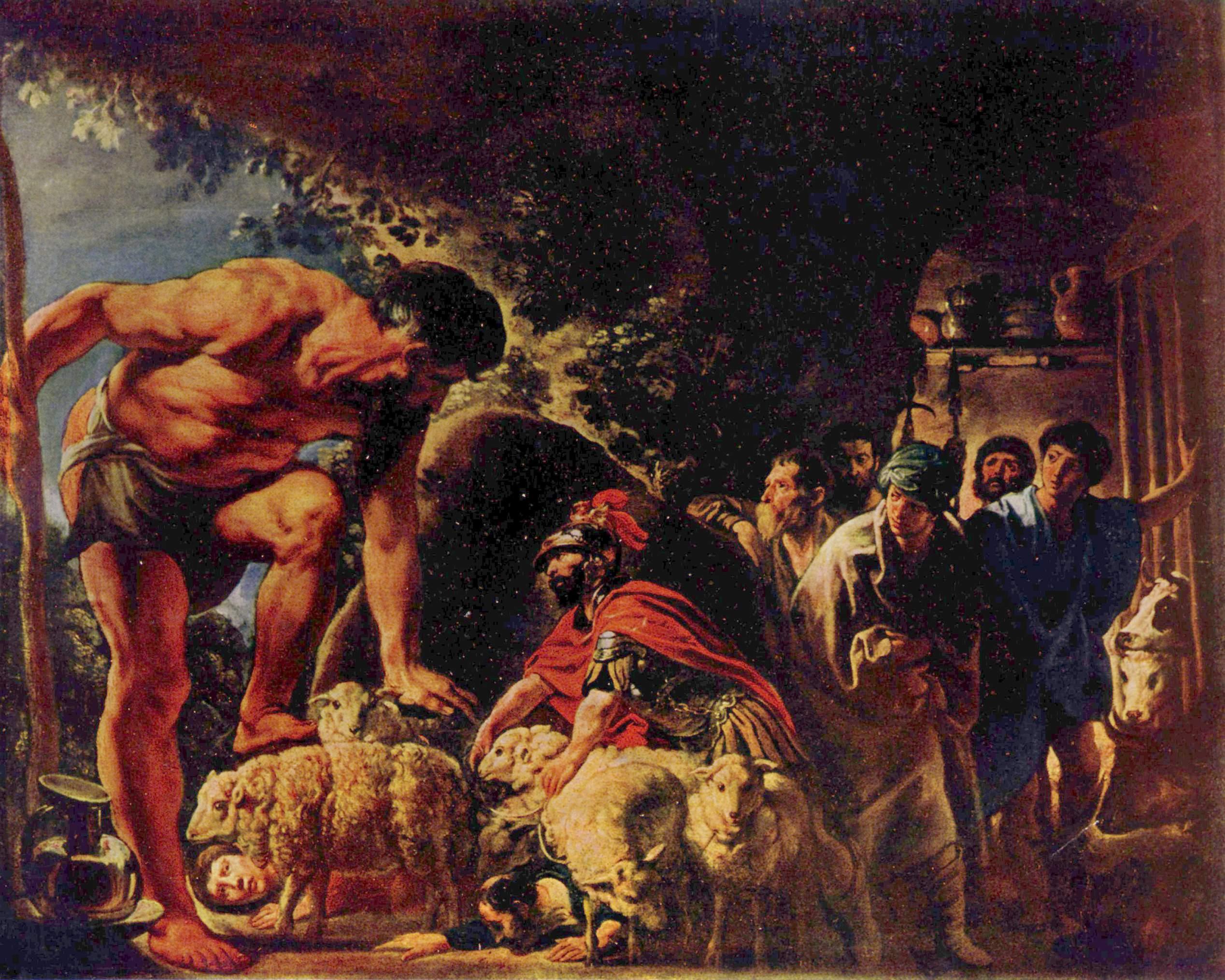 Одиссей в пещере Полифема, Йорданс Якоб