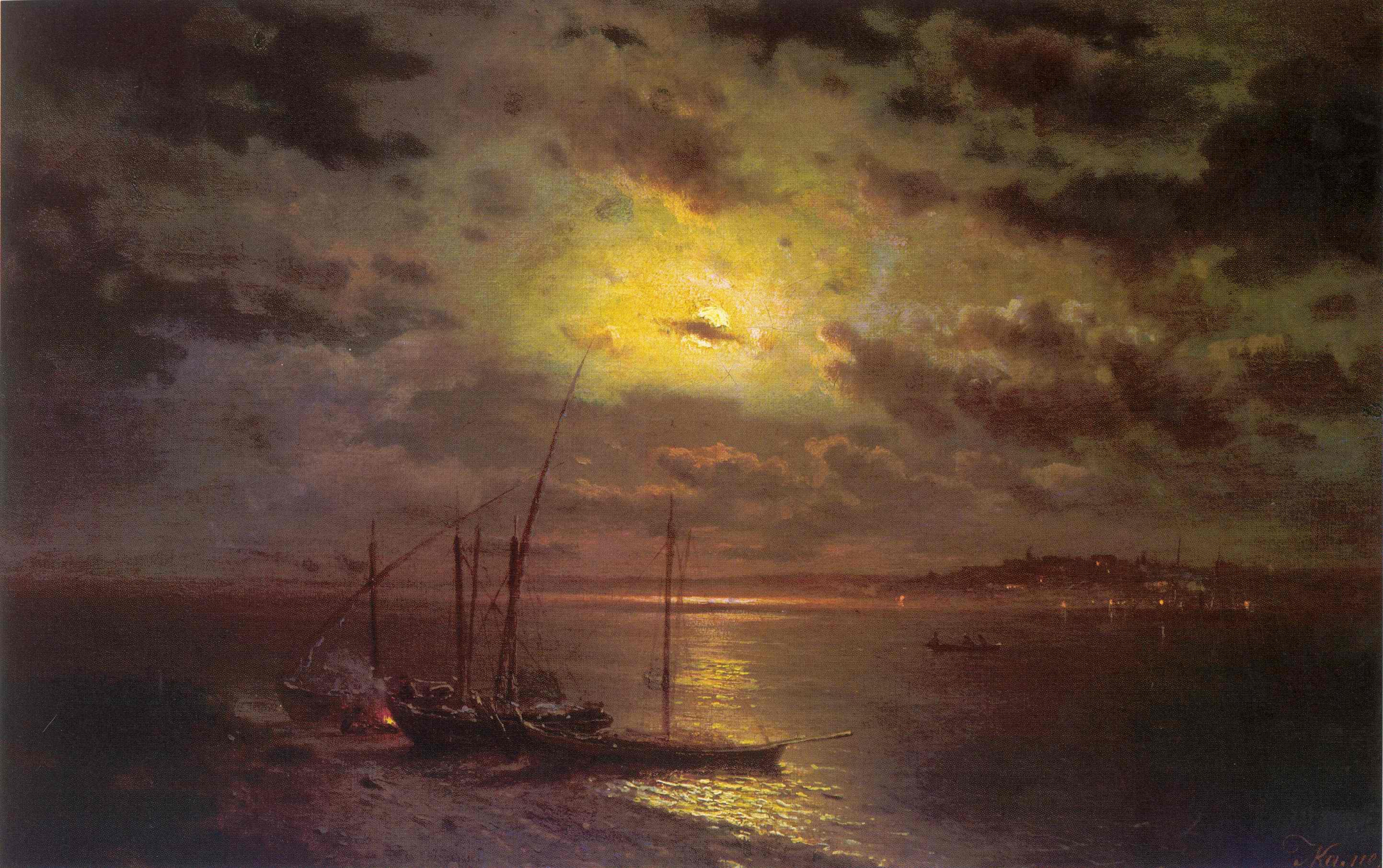 Лунная ночь на реке, Каменев Лев Львович