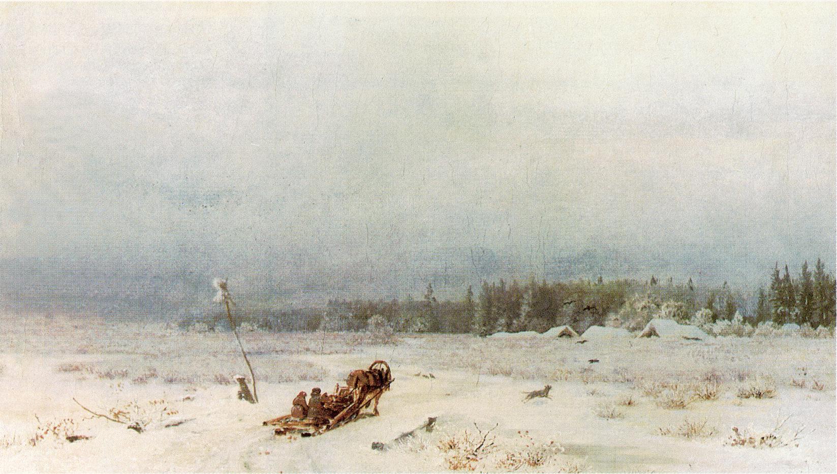 Зимняя дорога, Каменев Лев Львович