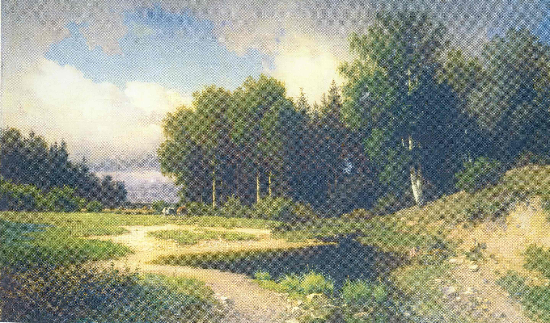 Савина слобода близ Звенигорода. Дождь, Каменев Лев Львович