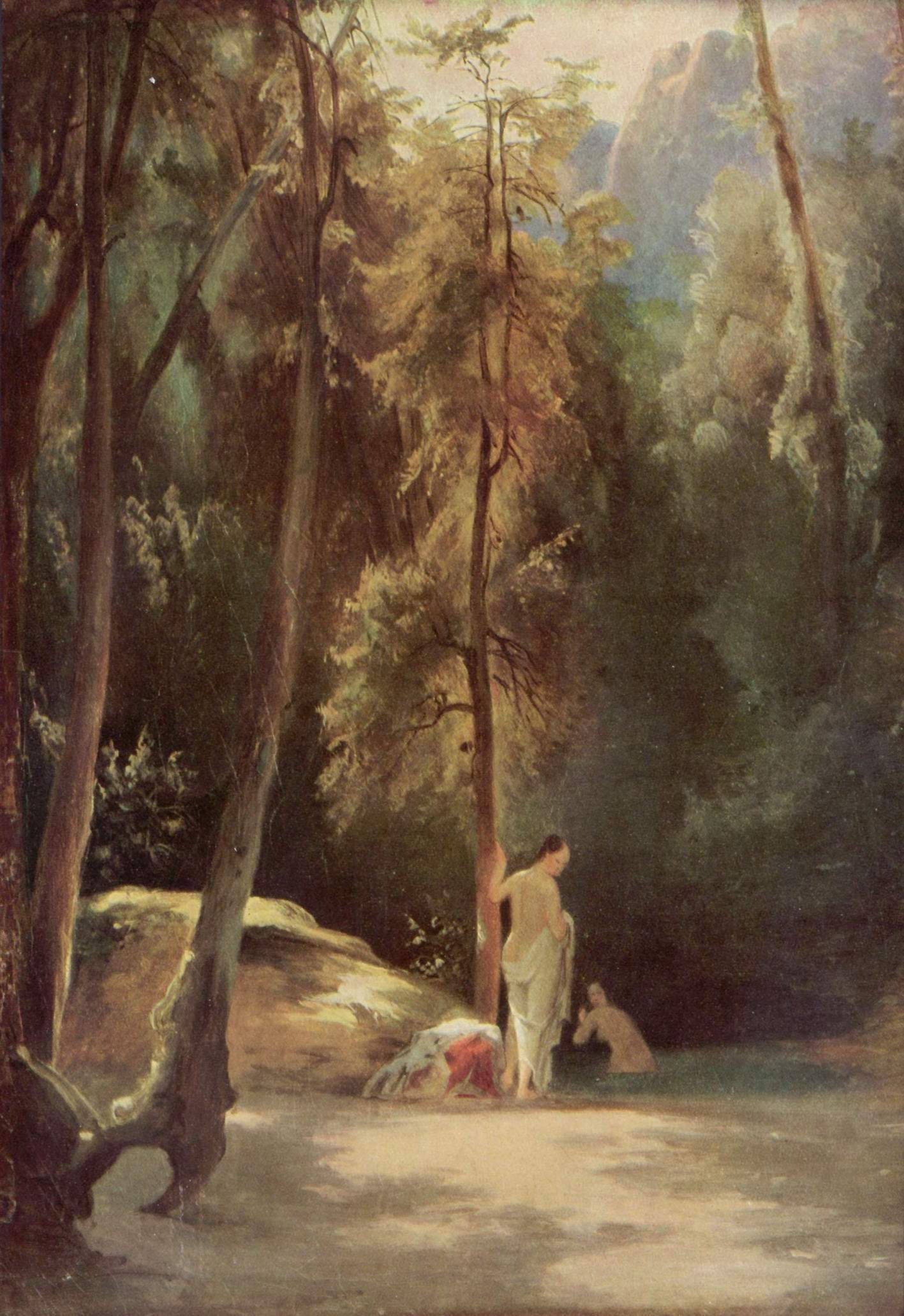 Купальщицы в парке Терни (Купальщицы в лесу), Карл Эдуард Фердинанд Блехен
