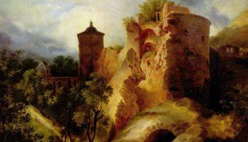 Взорванная башня Гейдельбергского замка