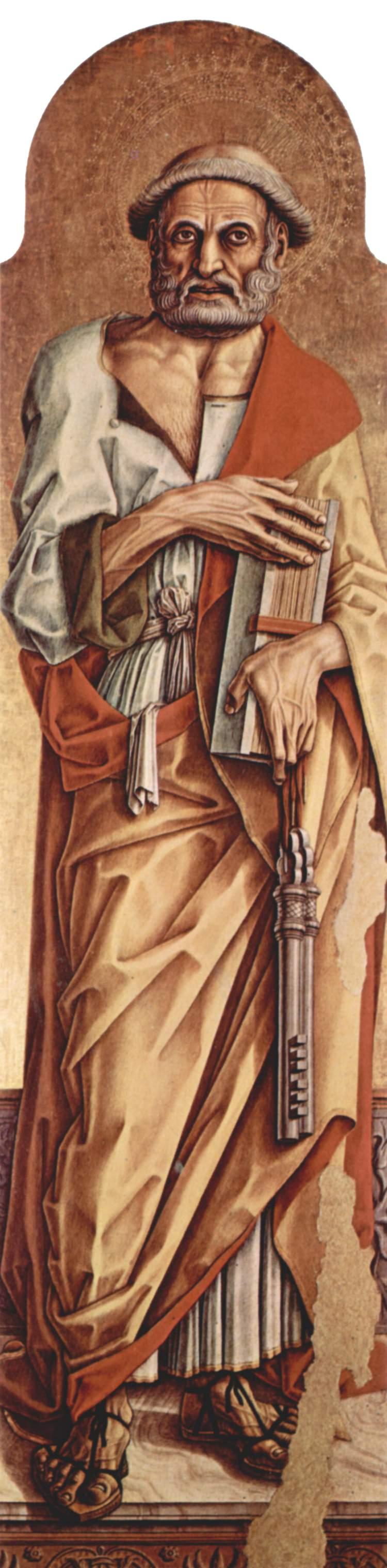 Алтарный полиптих церкви Сан Франческо в Монтефиоре дель Ассо, левая створка внутренняя сторона, Карло Кривелли