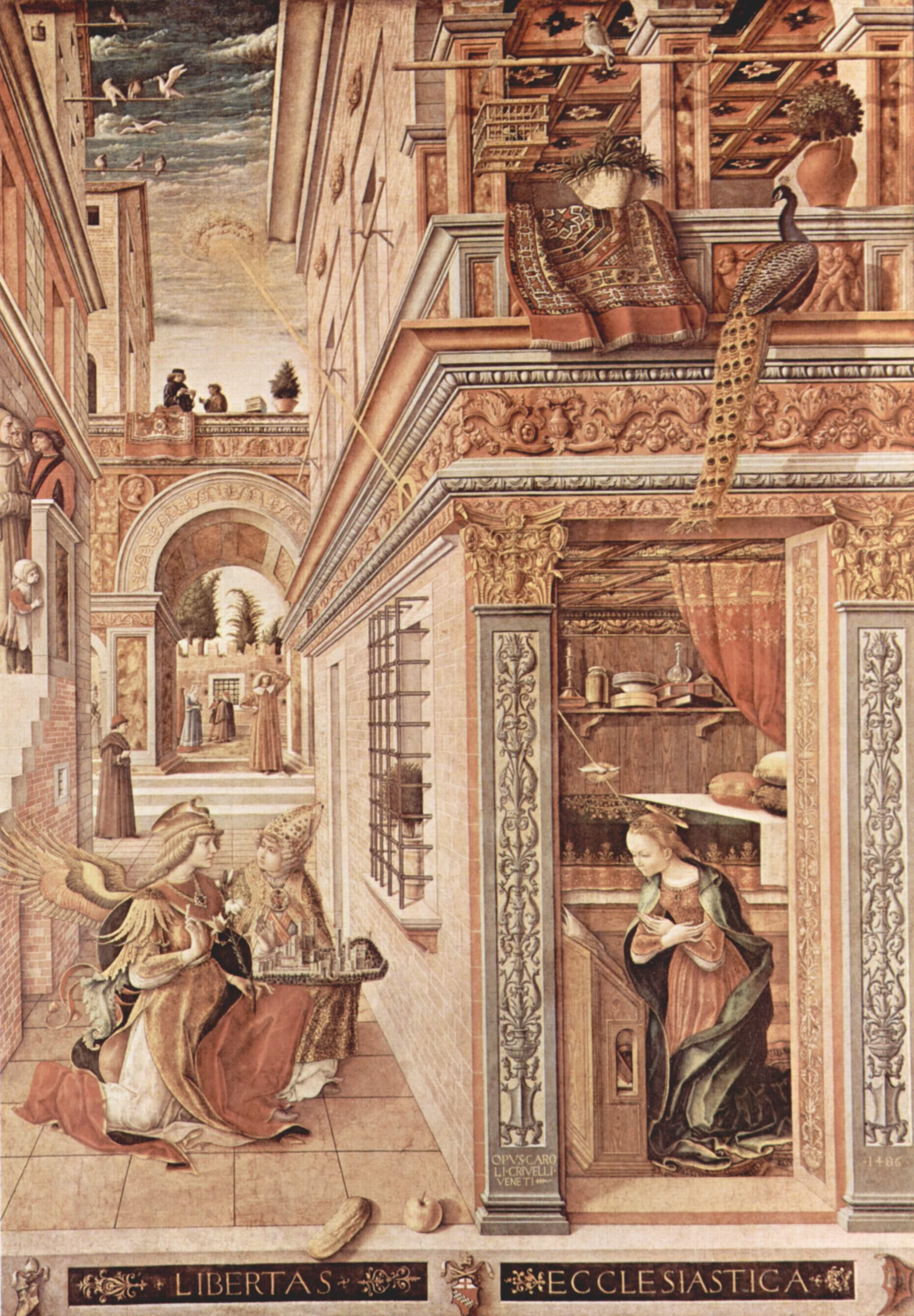 Благовещение с Эмигдием в Асколи Пичено, Карло Кривелли