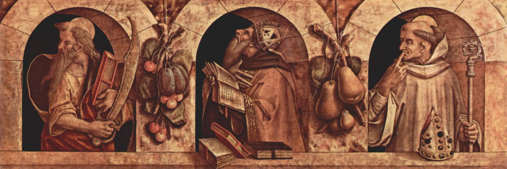Св. Павл, св. Иоанн Златоуст и св. Василий, Карло Кривелли