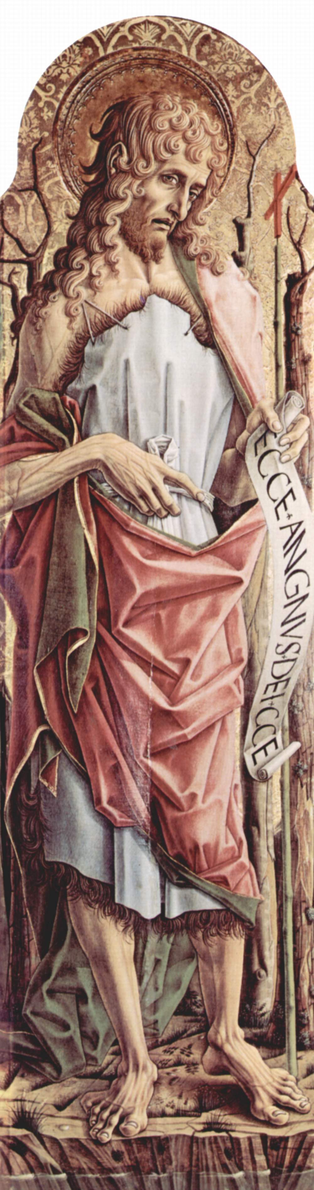 Центральный алтарь кафедрального собора в Асколи, полиптих, левая створка внутренняя сторона  Иоанн, Карло Кривелли