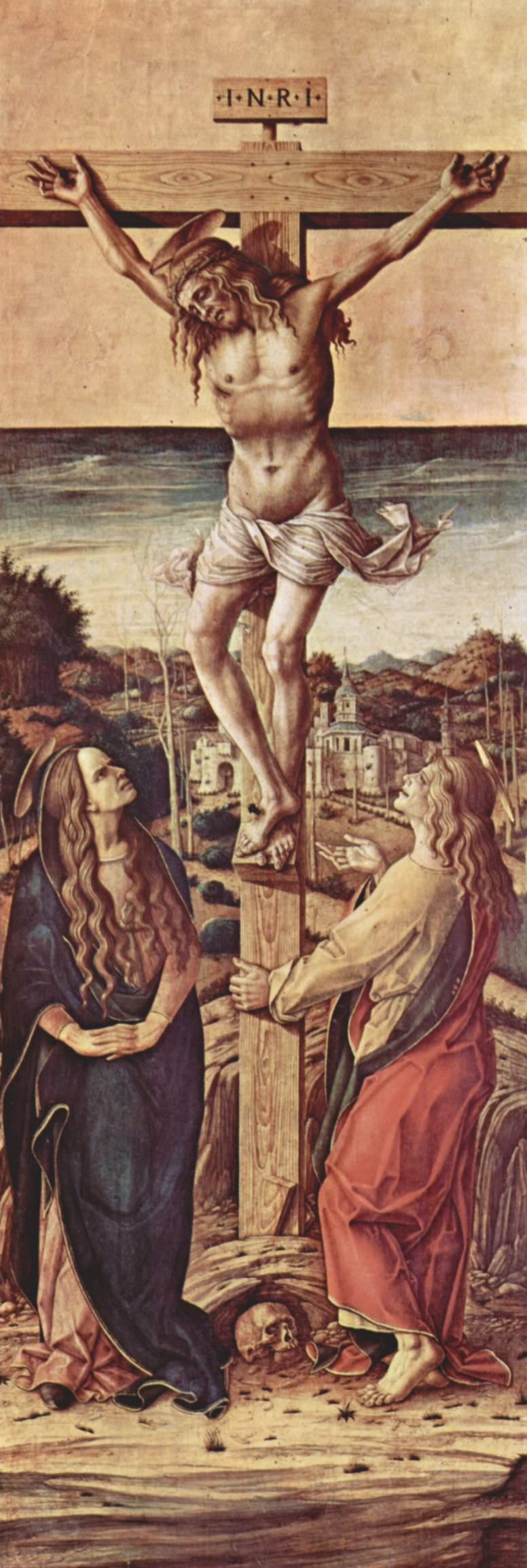 Алтарь из кафедрального собора в Камерино, Распятие, Карло Кривелли