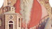 Центральный алтарь кафедрального собора в Асколи, полиптих, внутренее левое навершие  св. Иероним