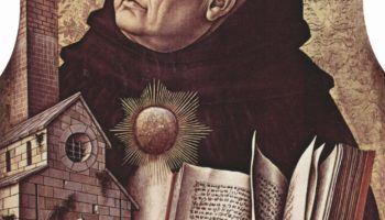 Центральный алтарь Сан Доменико в Асколи, полиптих, левое внешнее навершие  св. Фома Аквинский