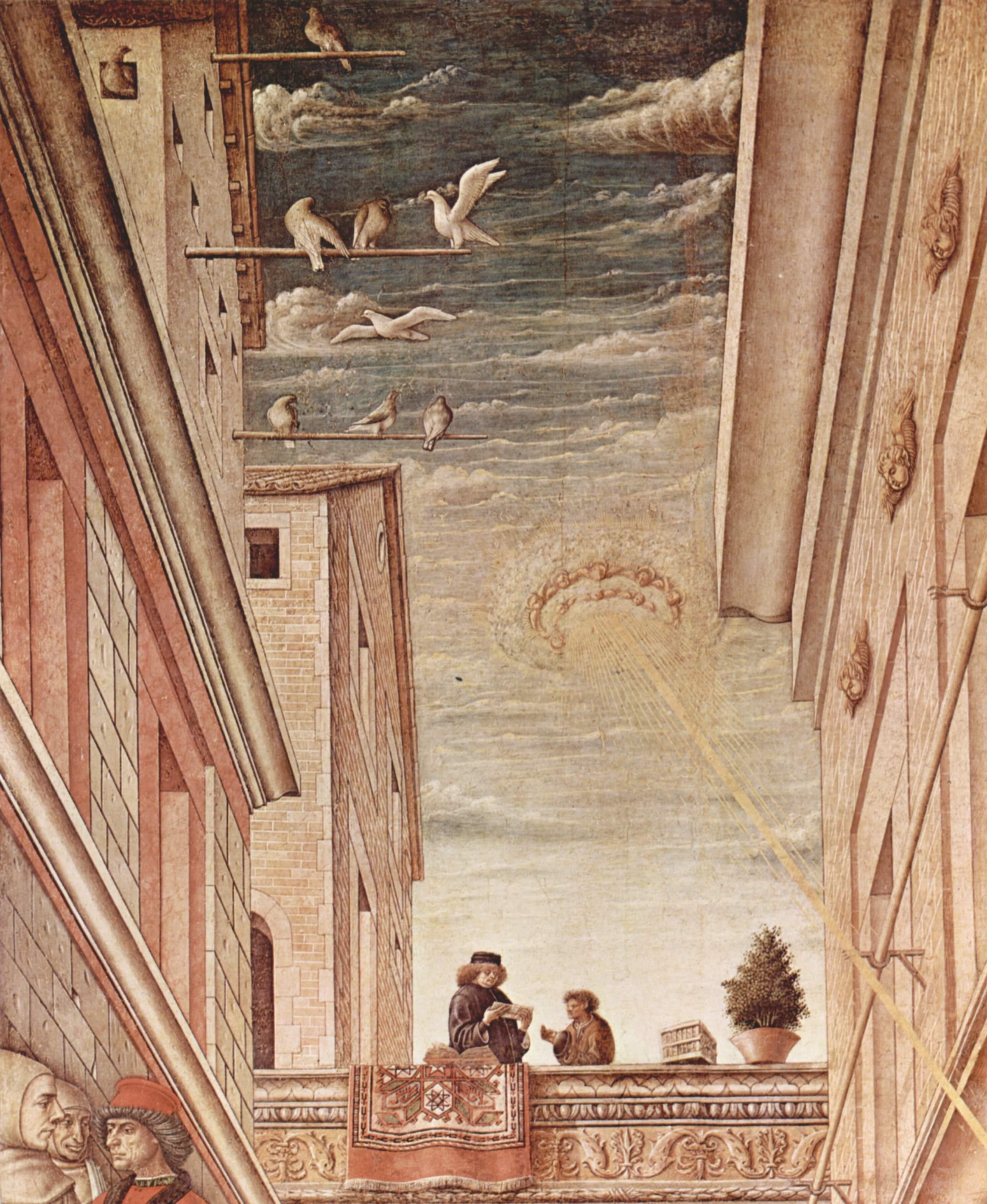 Благовещение с Эмигдием в Асколи Пичено. Деталь, Карло Кривелли