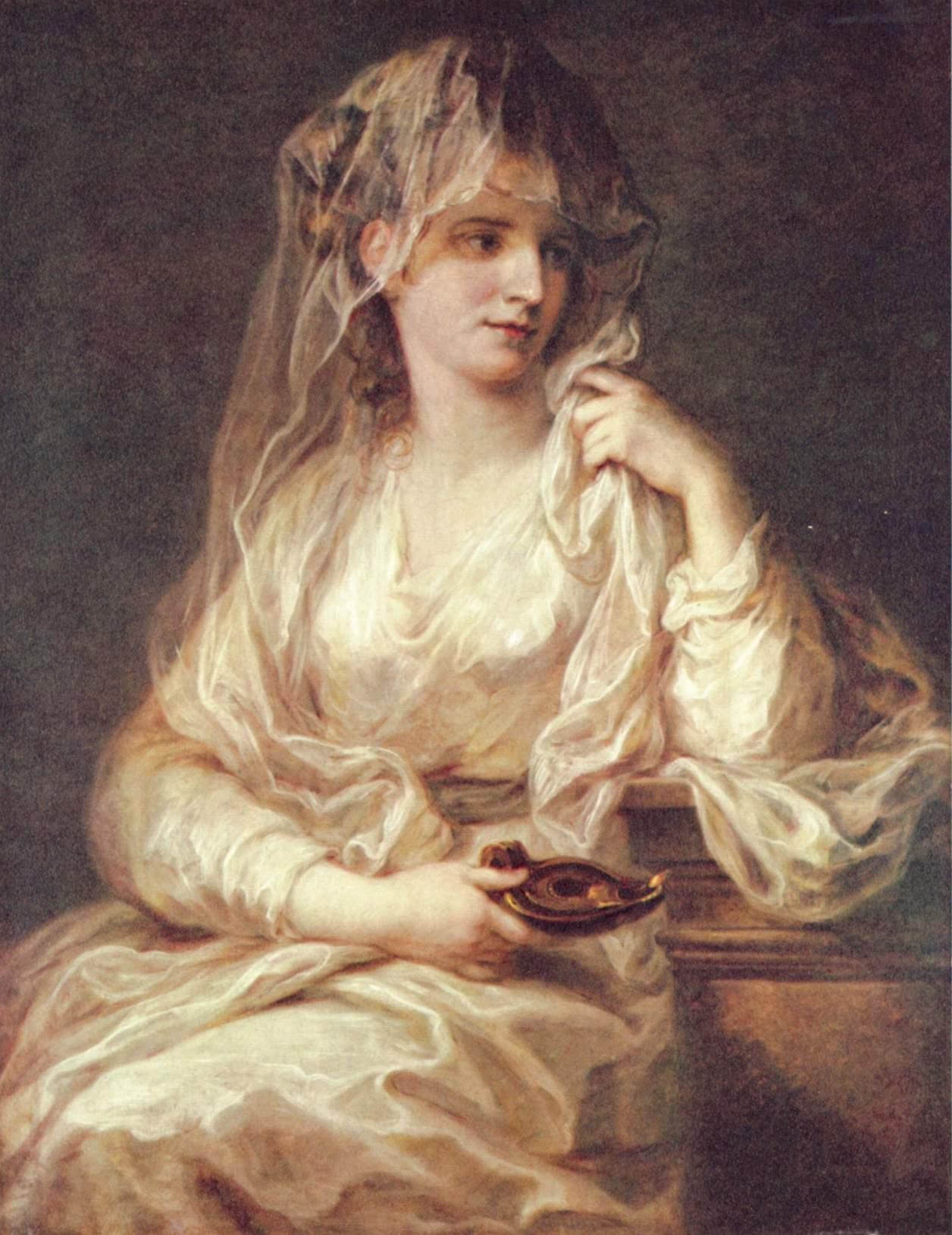 Портрет дамы в одеянии весталки, Кауфман Ангелика Мария