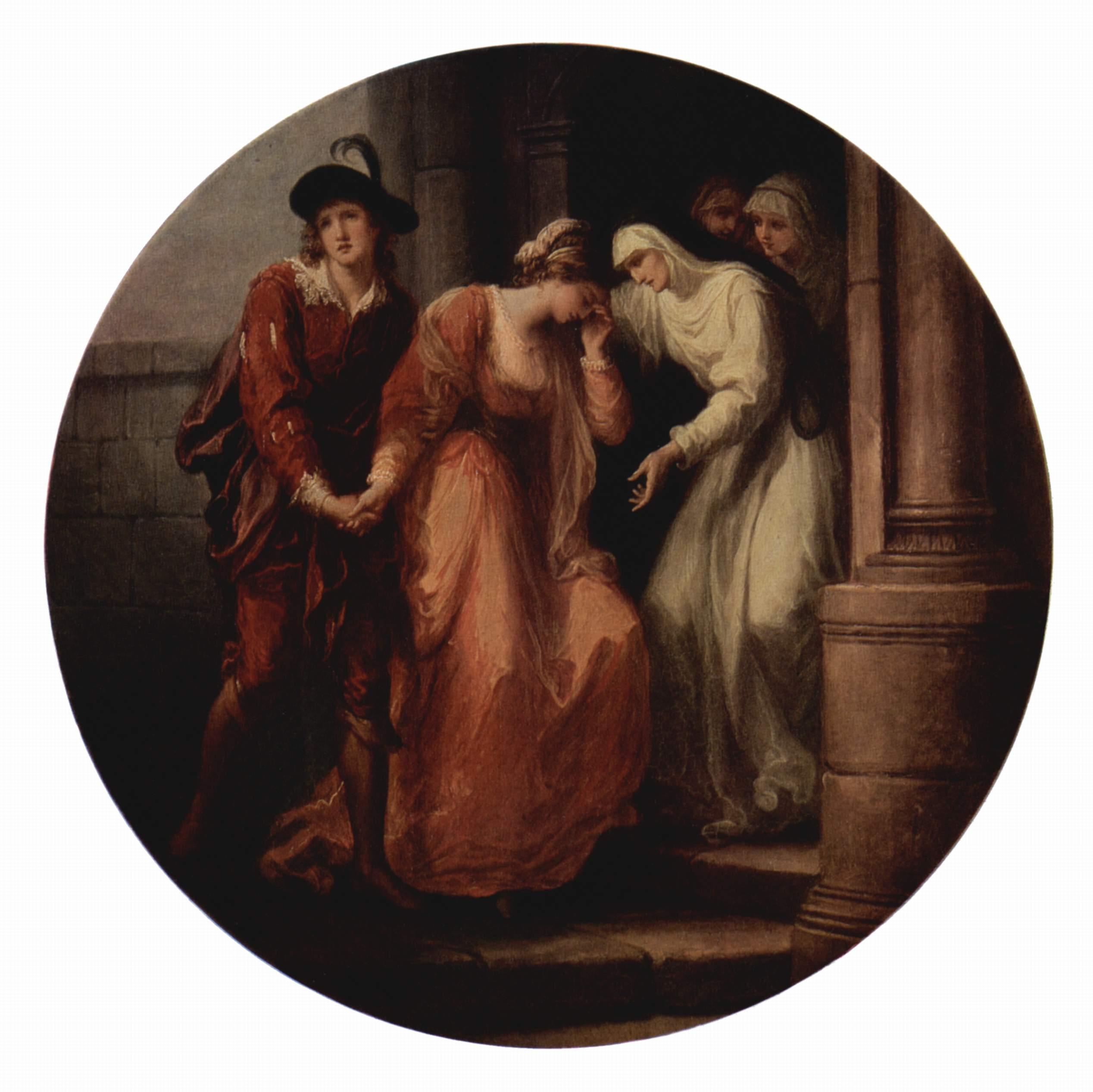Прощание Абеляра и Элоизы, Кауфман Ангелика Мария