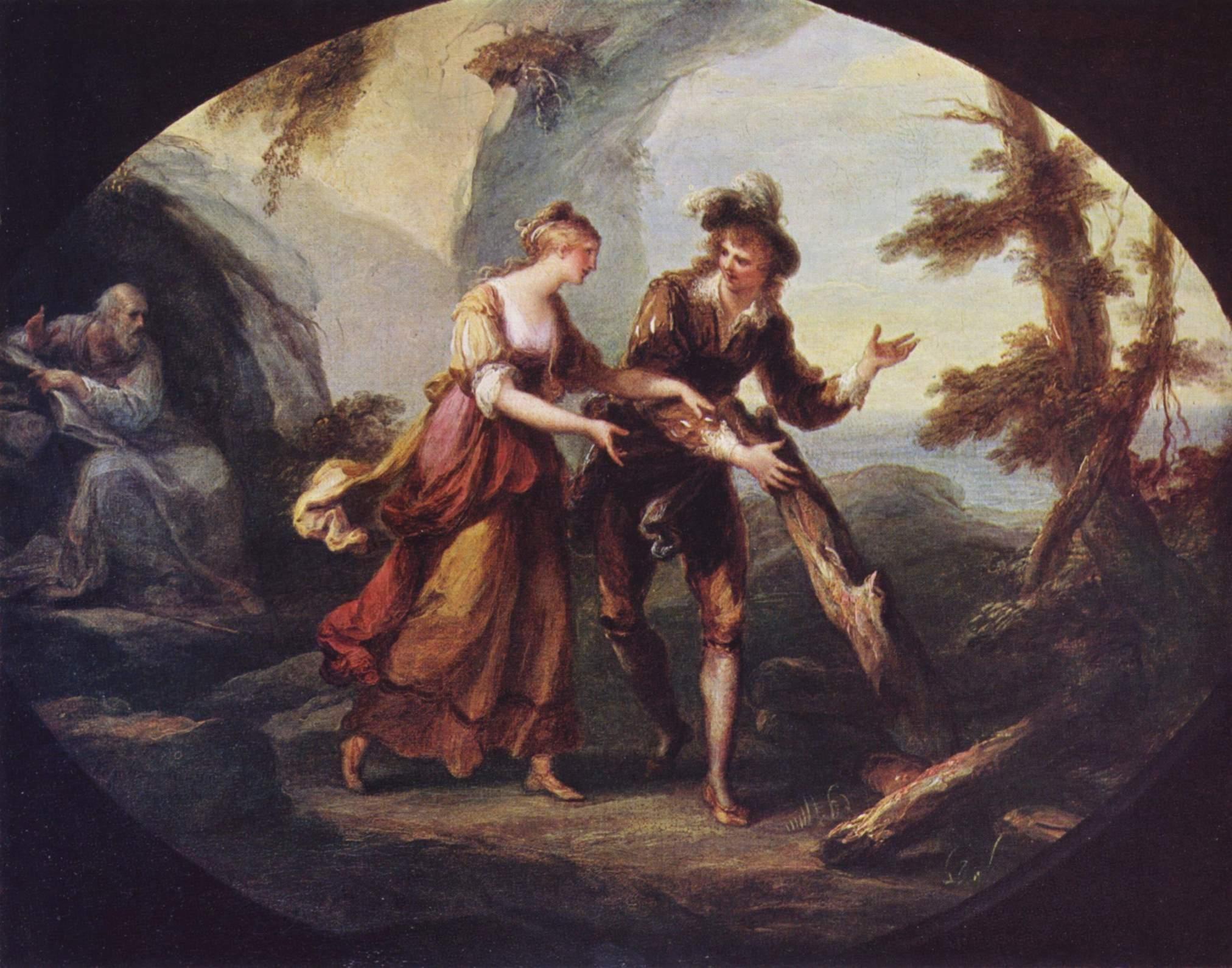 Сцена с Мирандой и Фердинандом, Кауфман Ангелика Мария