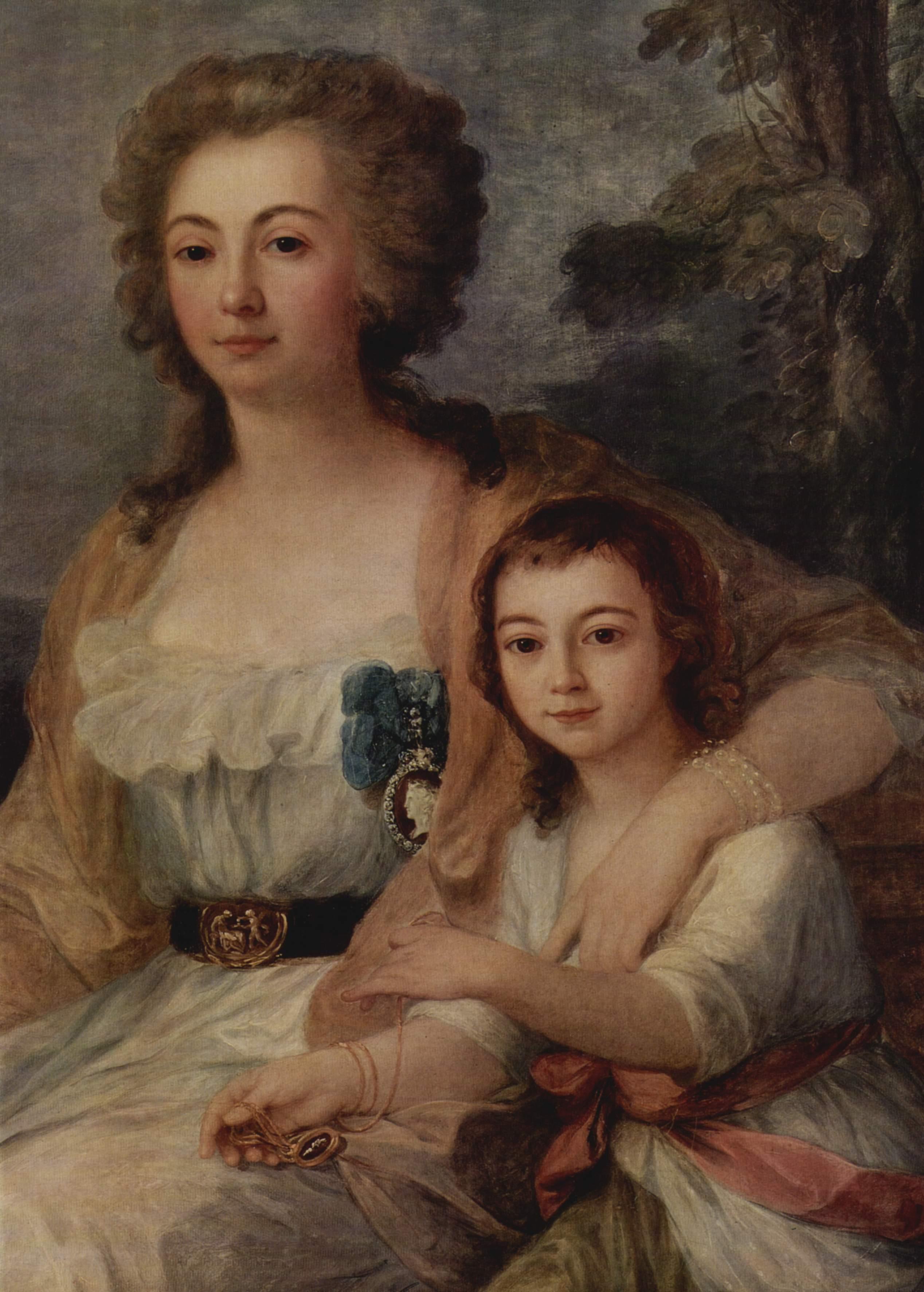 Портрет графини Анны Протасовой с племянником. Фрагмент, Кауфман Ангелика Мария