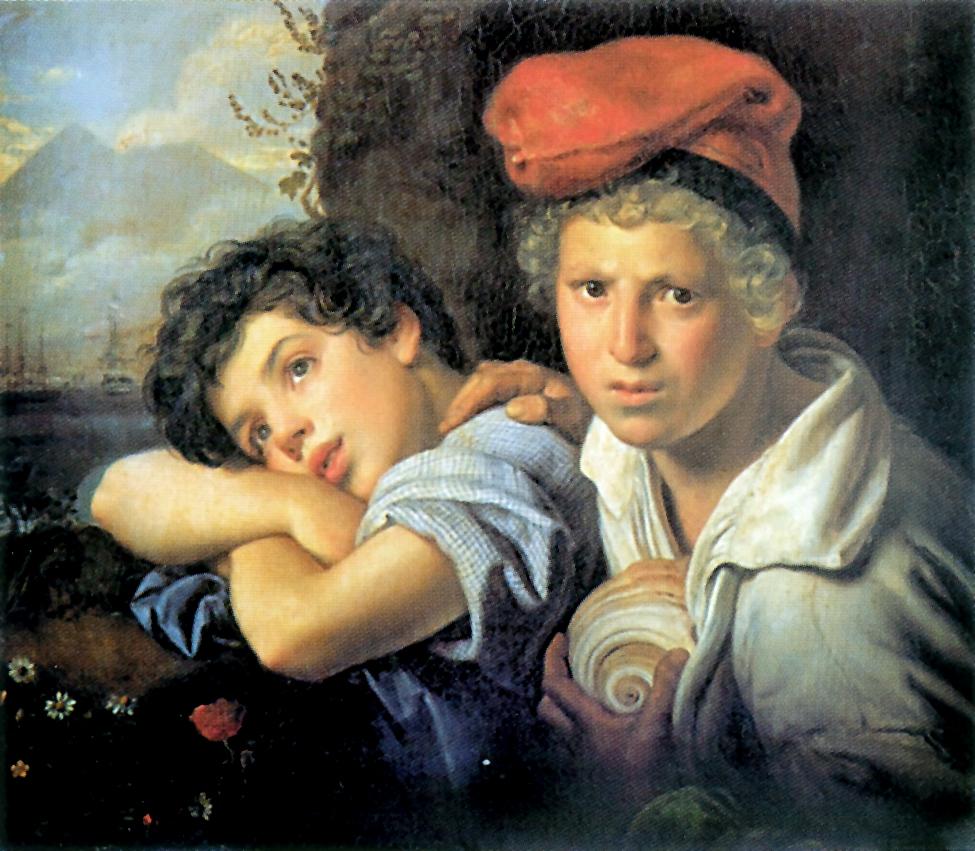 Неаполитанские мальчики-рыбаки, Кипренский Орест Адамович