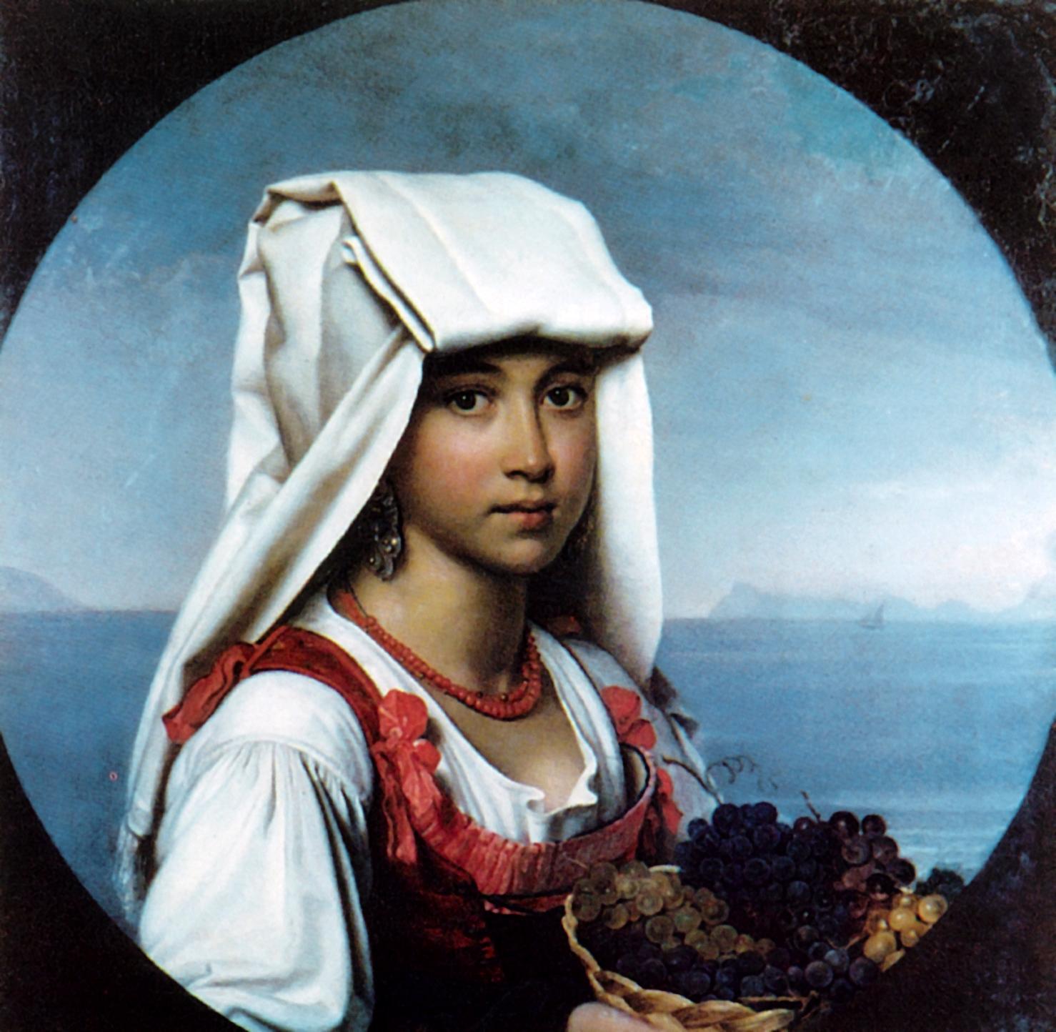 Неаполитанская девочка с плодами, Кипренский Орест Адамович