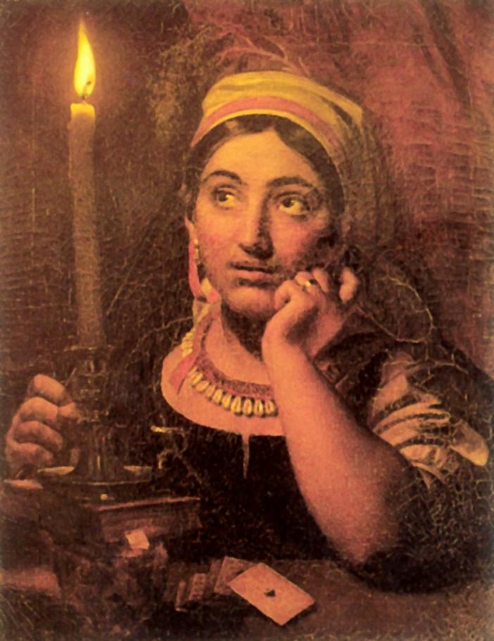 Ворожея со свечой, Кипренский Орест Адамович