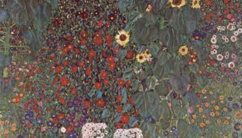 Крестьянский сад с подсолнухами