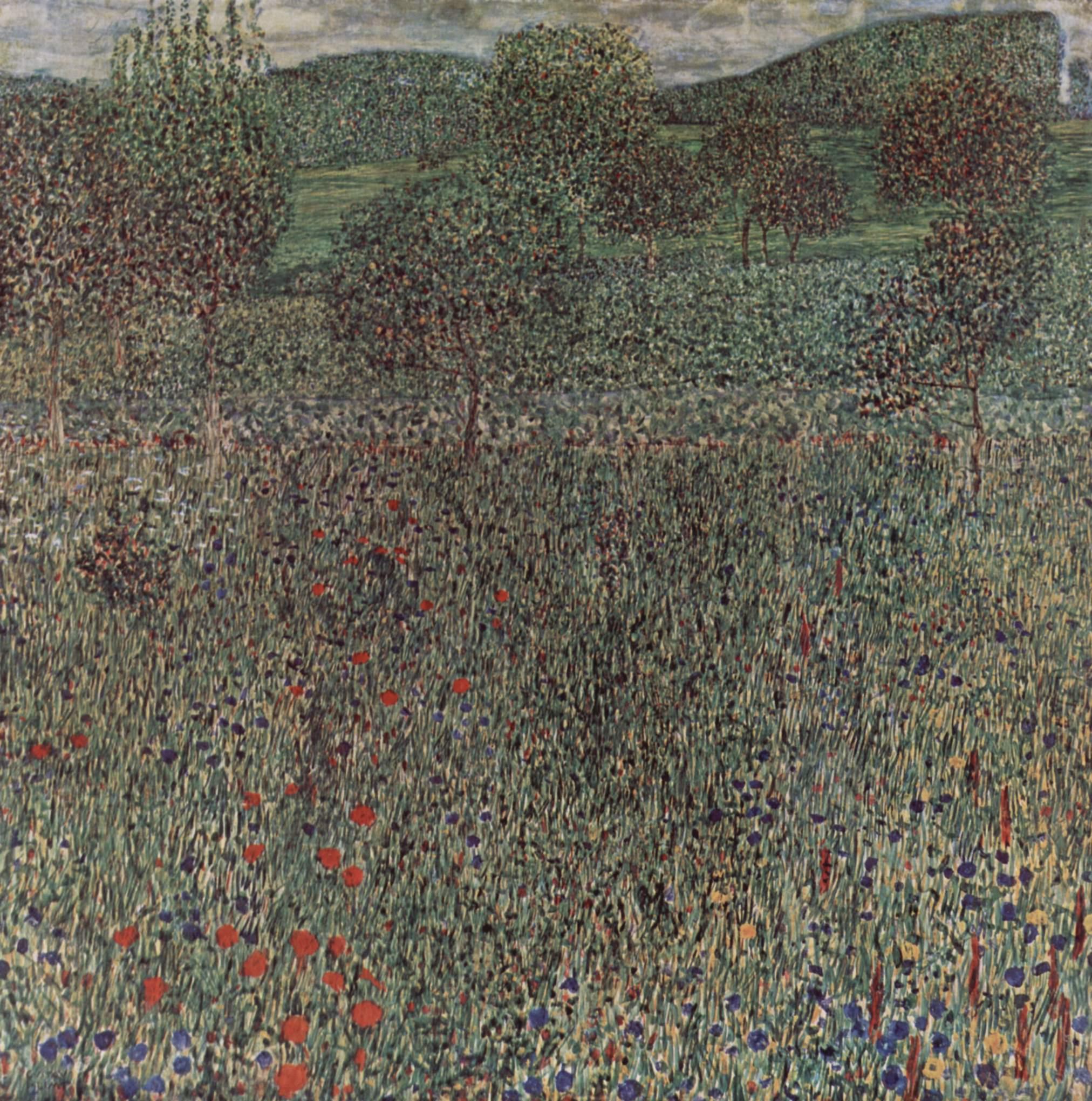 Цветущая нива, Климт Густав