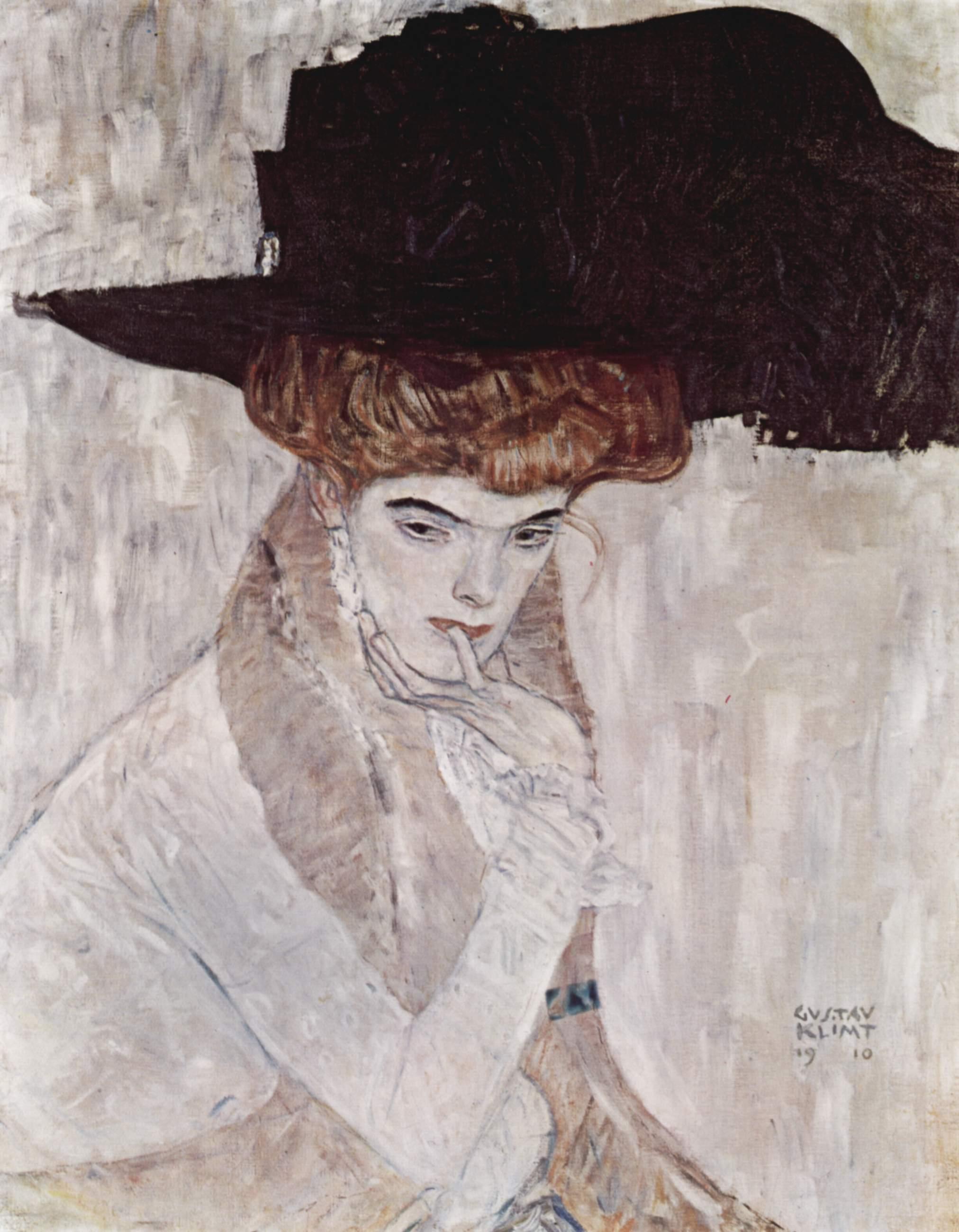 Черная шляпа, Климт Густав