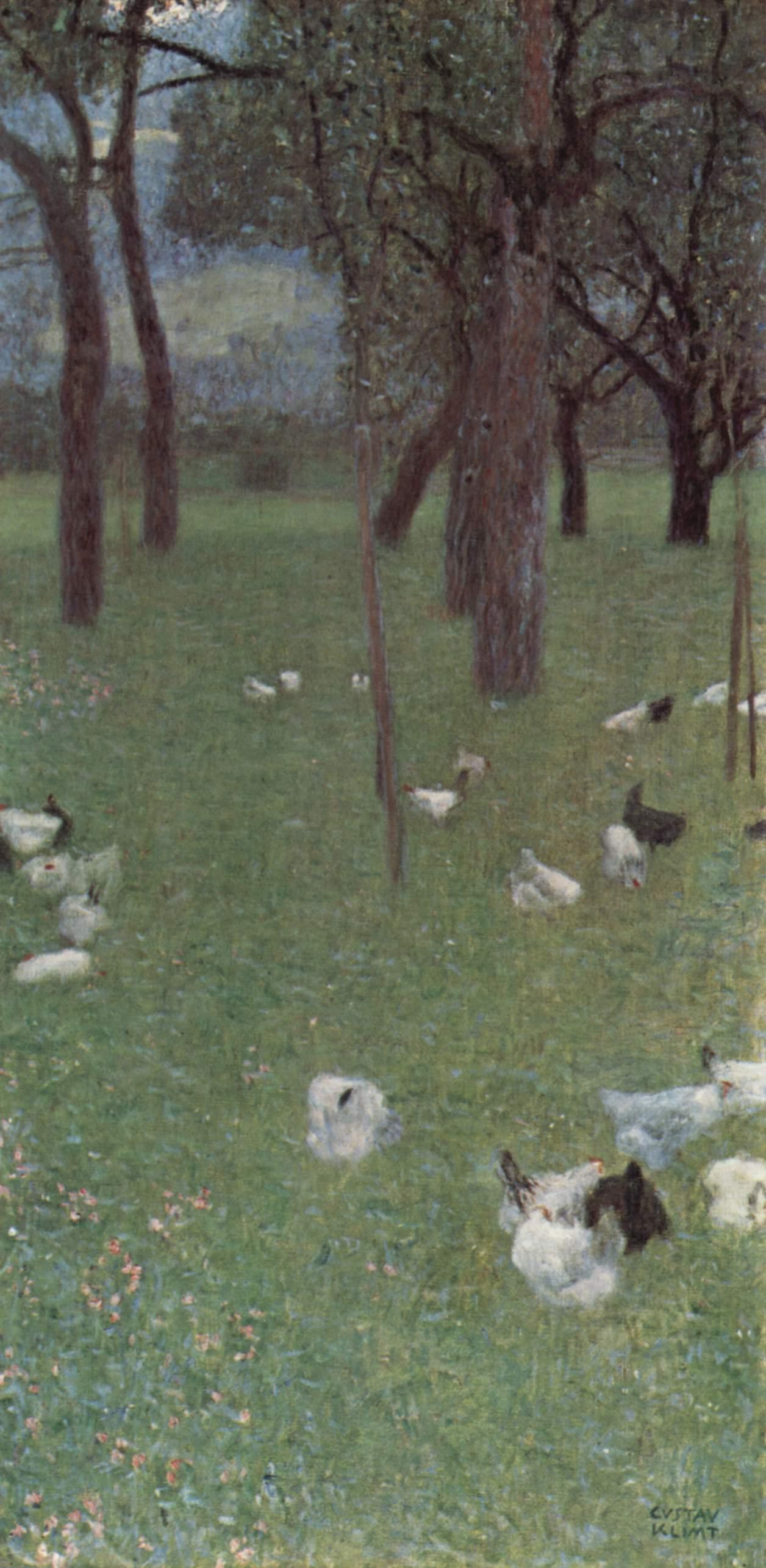 Сад с курами в монастыре св. Агаты, Климт Густав