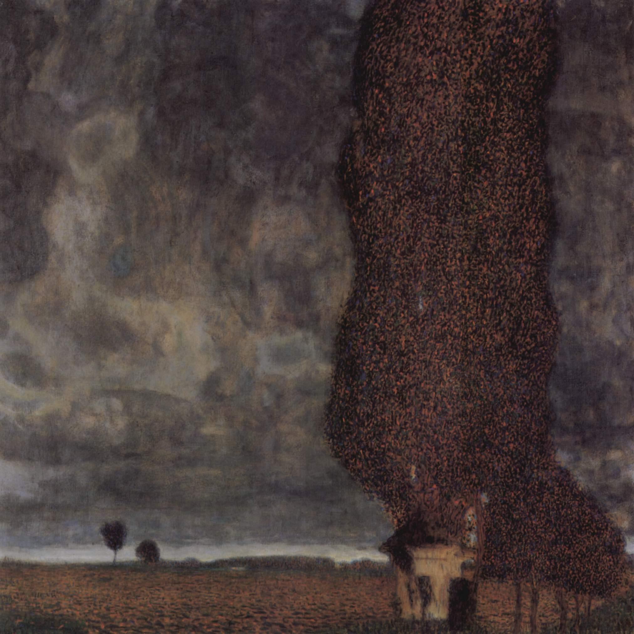 Тополь-исполин, или Надвигающаяся гроза, Климт Густав