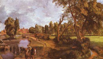 Сцены на судоходной реке. Мельница во Флэтфорде