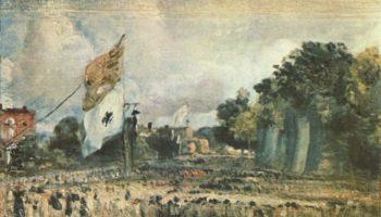 Празднование в Восточном Бергхольте мира 1814 года, заключенного в Париже между Францией и союзными державами