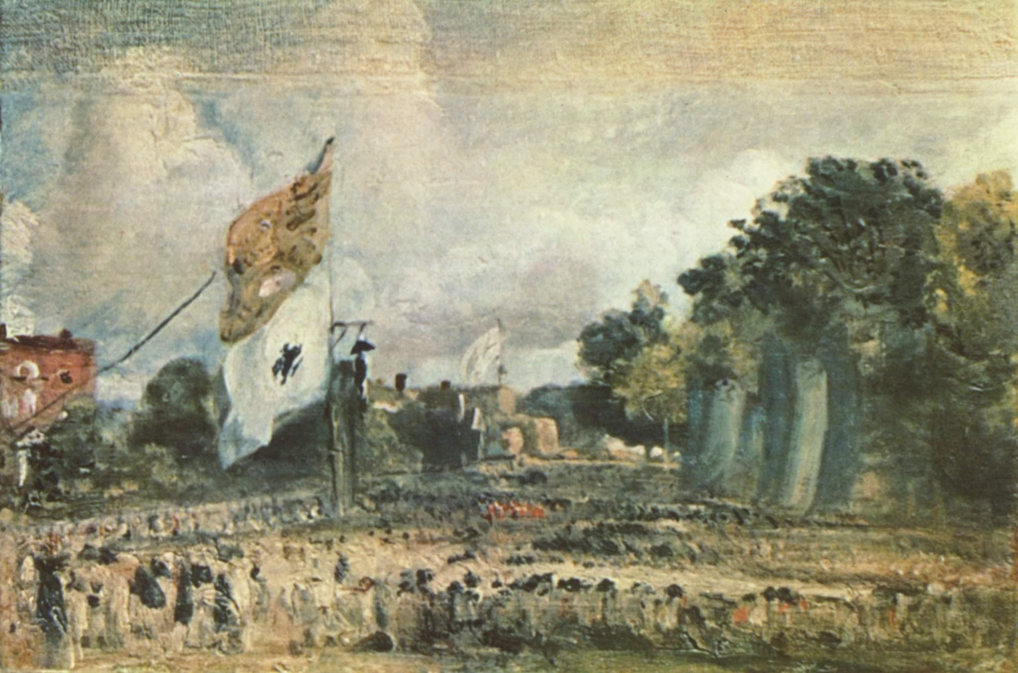 Праздник в честь победы при Ватерлоо в Восточном Бергхольте, Констебл Джон