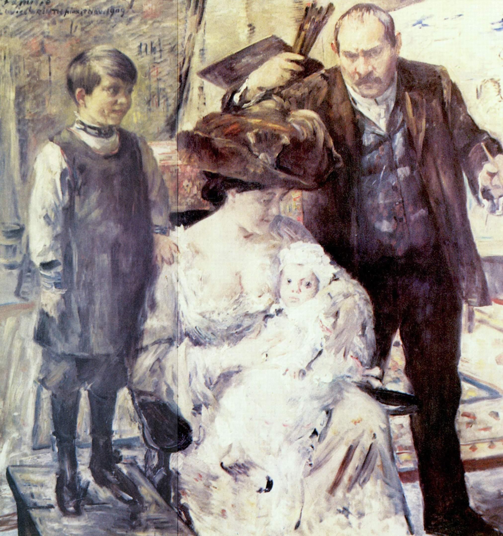 Художник и его семья (семейный портрет), Коринт Ловис