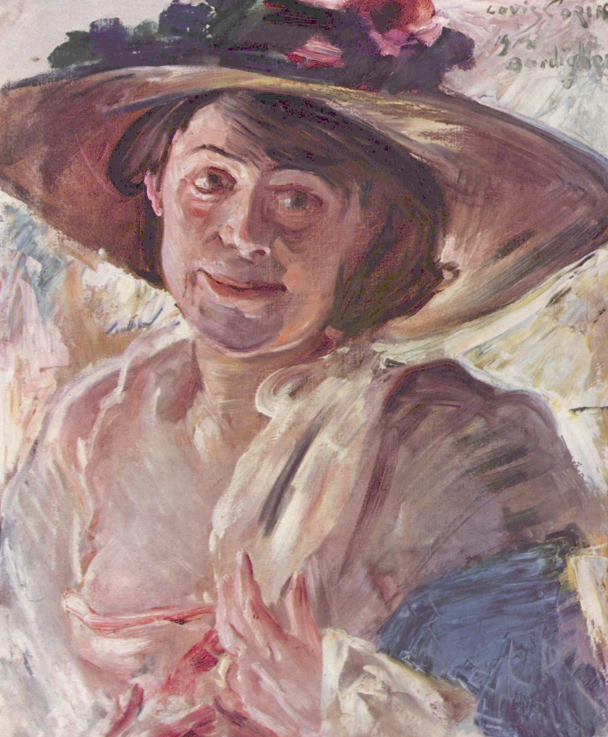Дама в розовой шляпе. Портрет Шарлотты Беренд-Коринт, Коринт Ловис