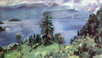 Панорама озера Вальхен, вид из церкви