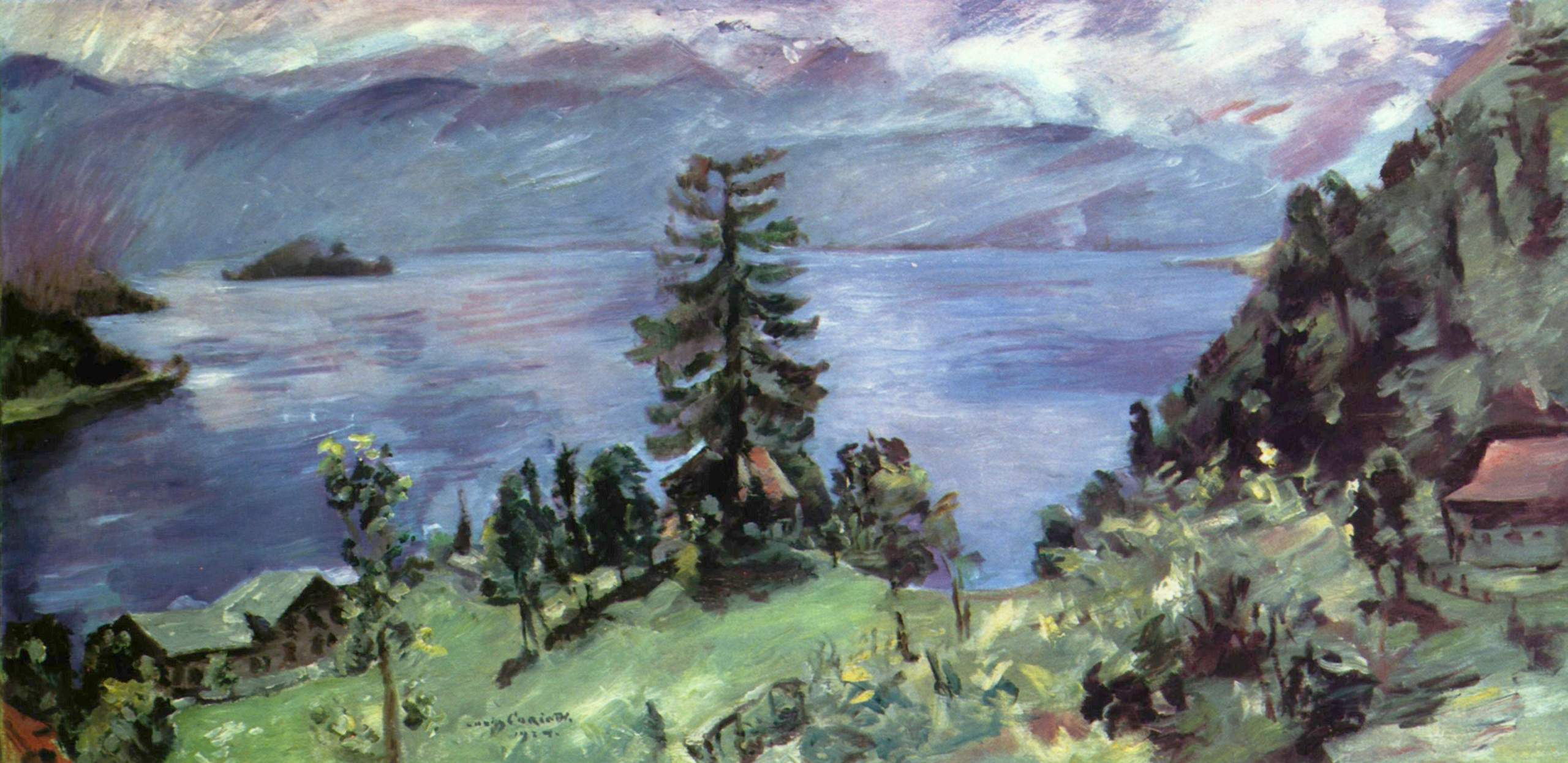 Панорама озера Вальхен, вид из церкви, Коринт Ловис