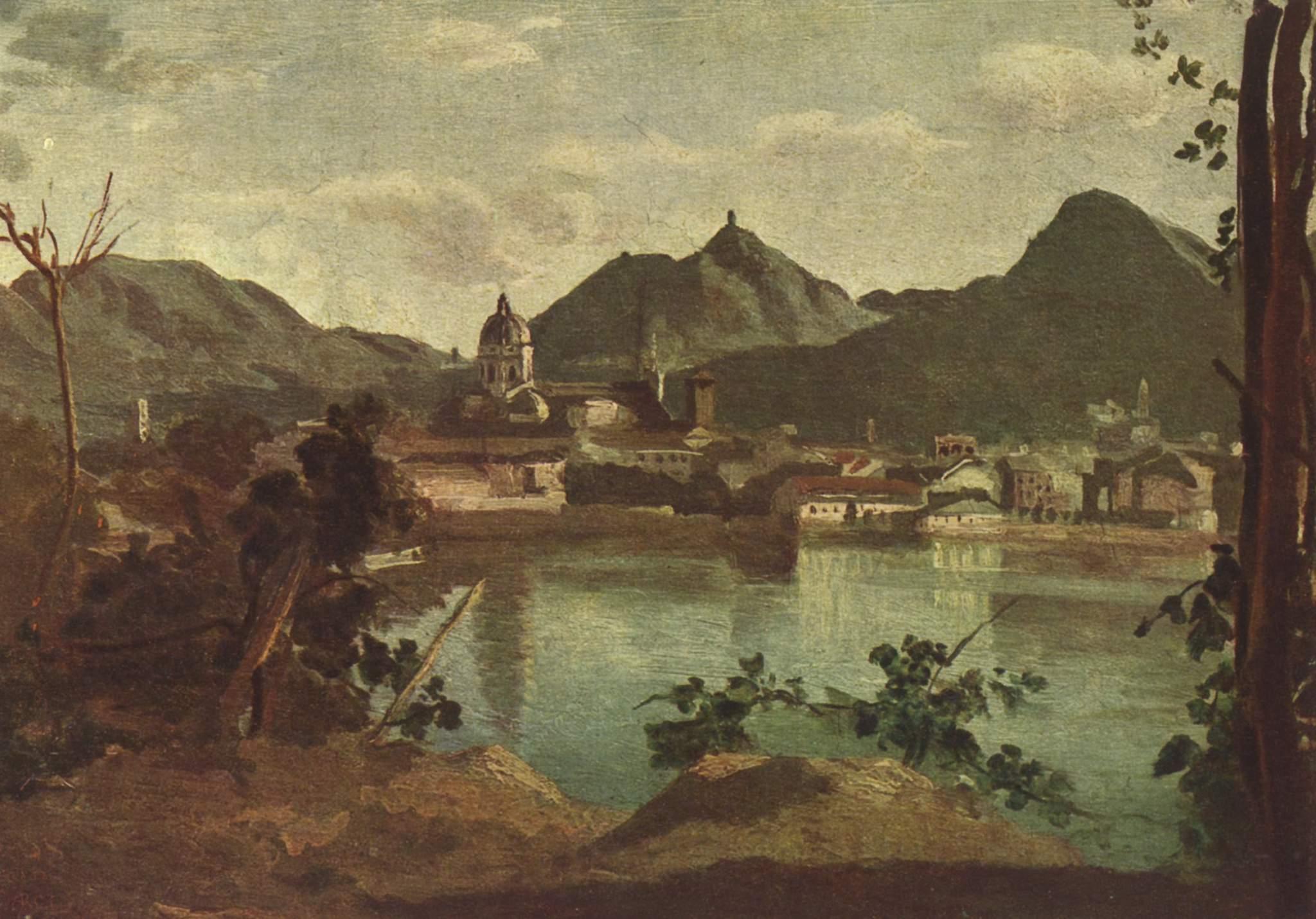 Город и озеро Комо, Коро Жан-Батист-Камиль