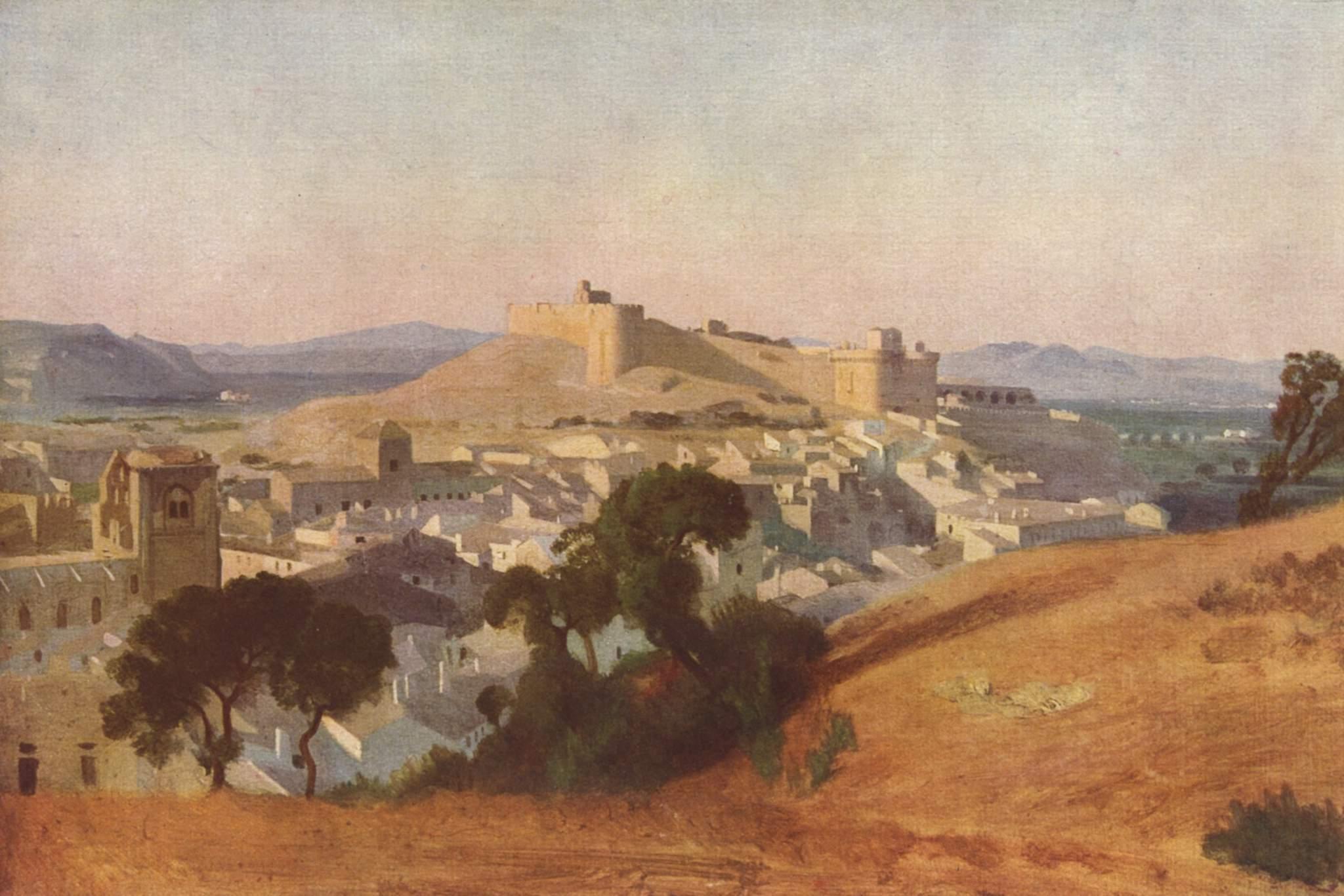 Вид на Вильнёв-лез-Авиньон. Форт Сен-Андре, Коро Жан-Батист-Камиль