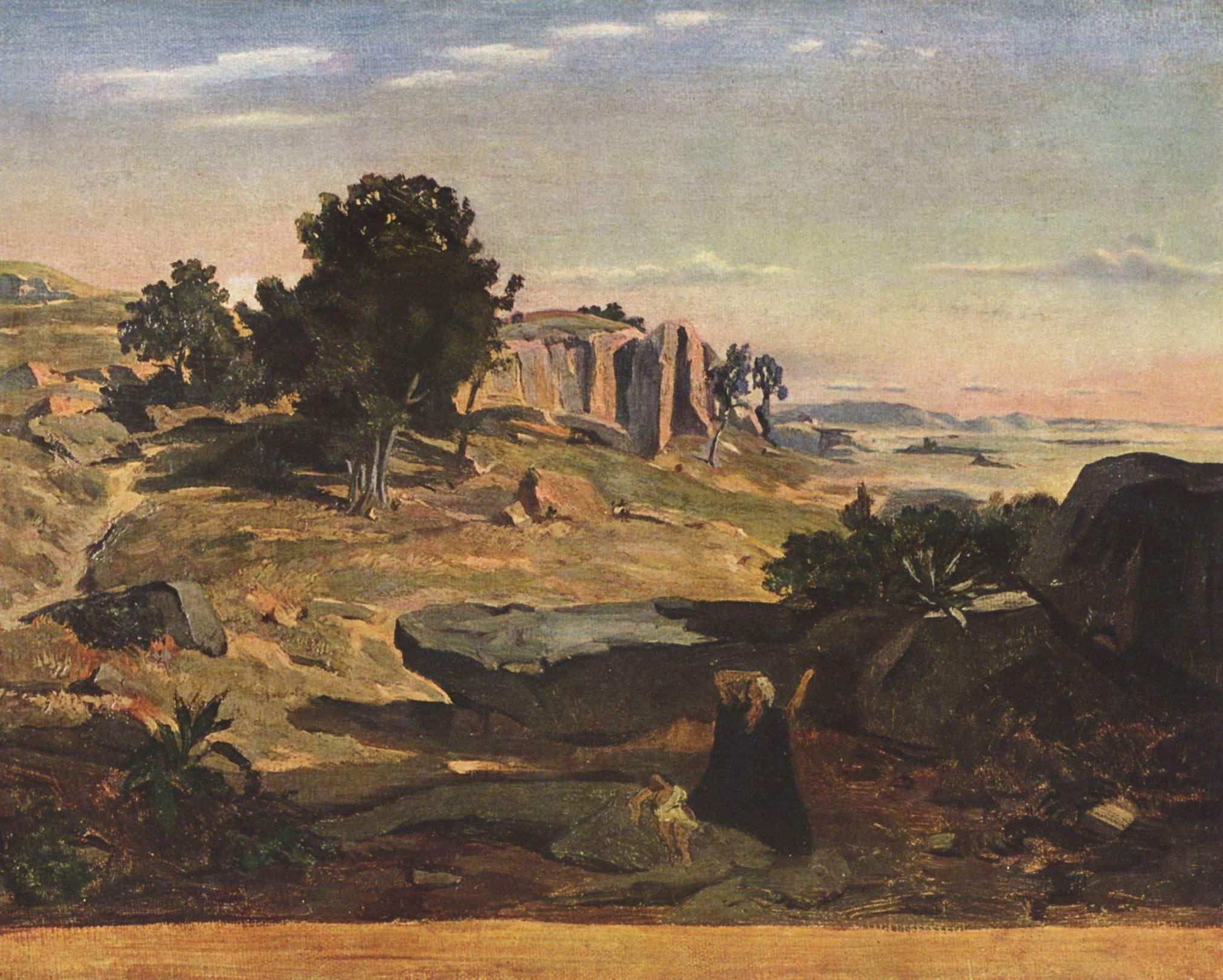 Агарь в пустыне, Коро Жан-Батист-Камиль