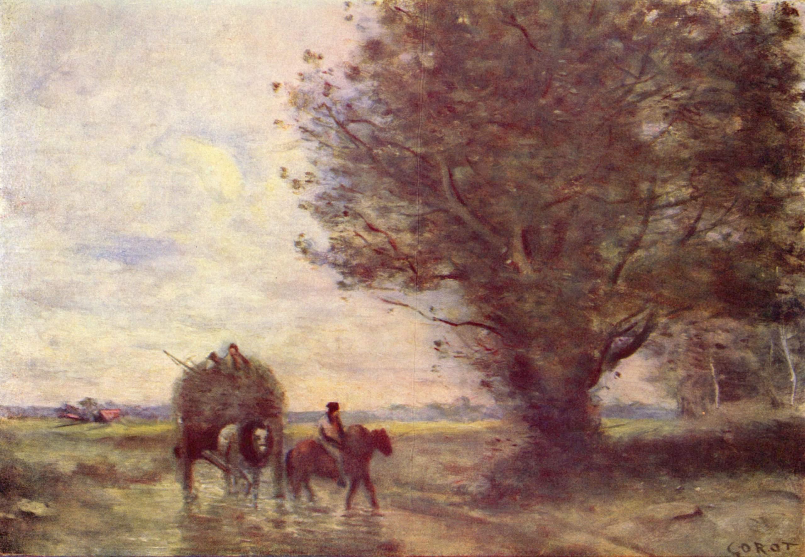 Воз сена, Коро Жан-Батист-Камиль