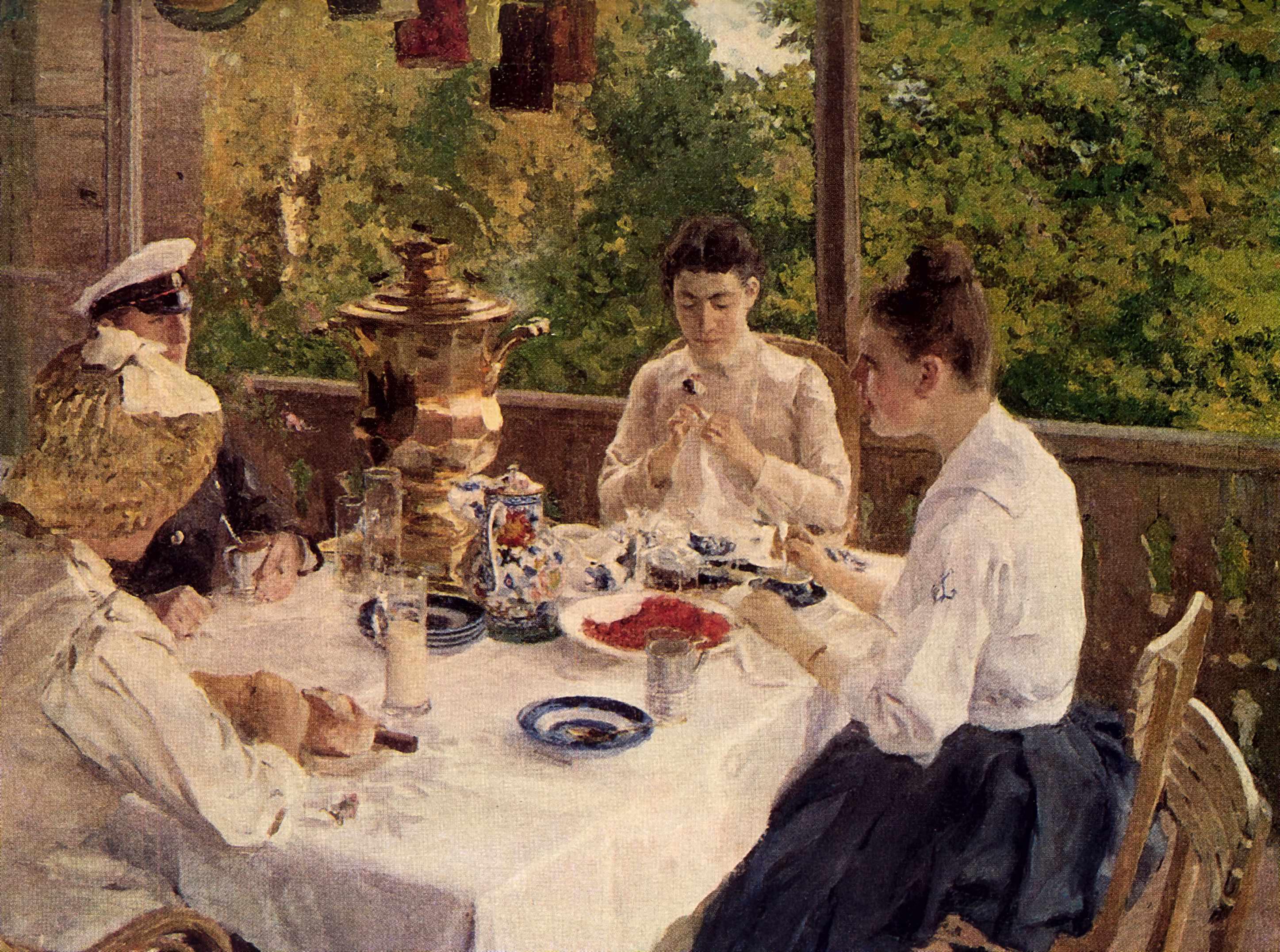 За чайным столом, Коровин Константин Алексеевич
