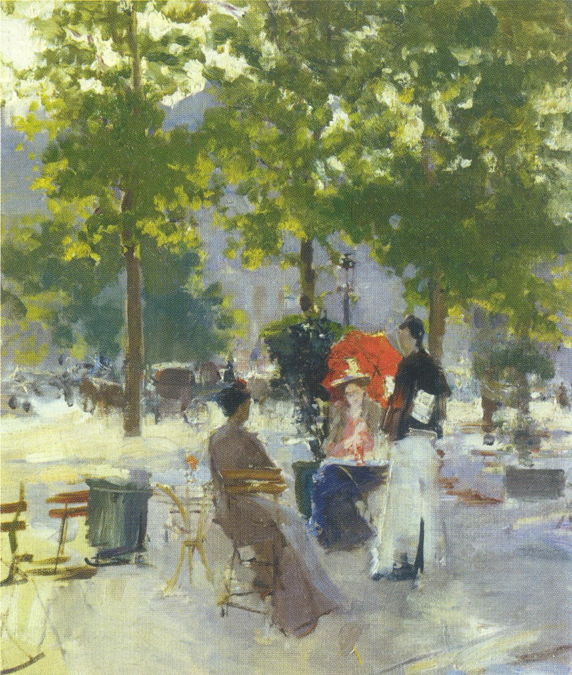 Парижское кафе, Коровин Константин Алексеевич