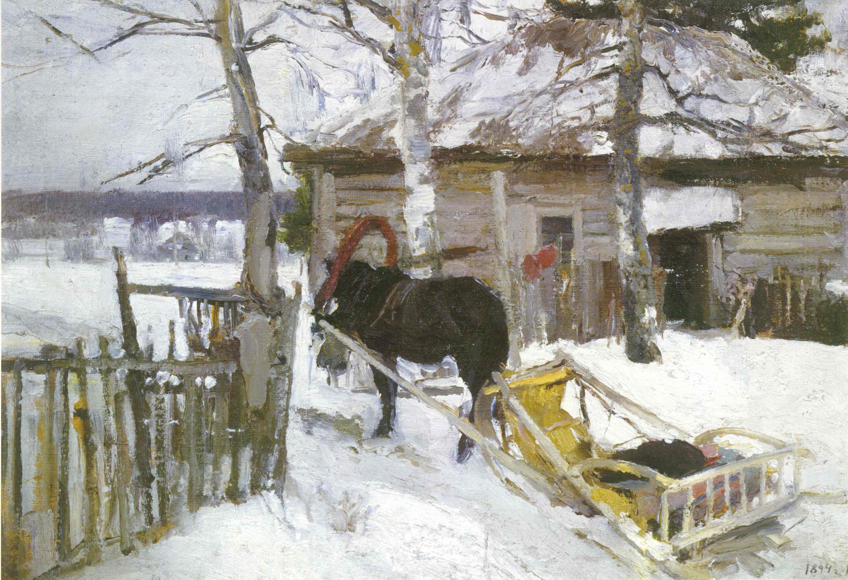 Зимой, Коровин Константин Алексеевич