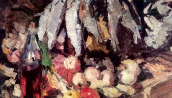 Рыбы, вино и фрукты