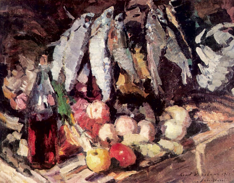 Рыбы, вино и фрукты, Коровин Константин Алексеевич