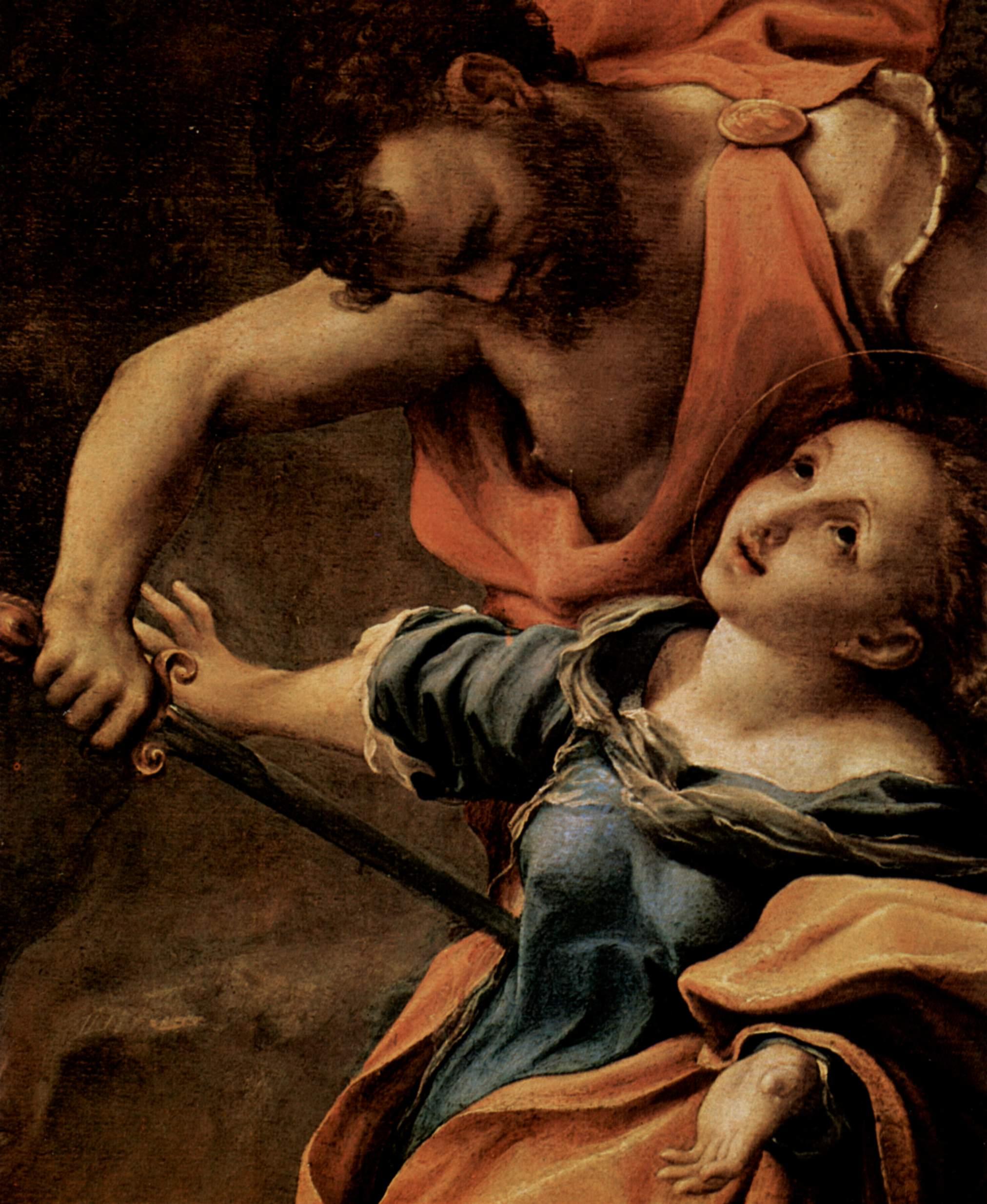Мученическая смерть четырёх святых. Деталь, Корреджо
