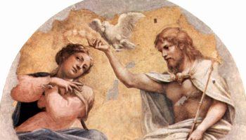 Фрески церкви Сан Джованни Евангелиста в Парме, люнет в апсиде, Коронование Марии